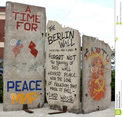 Berlin Wall Fragment The Historic Berlin Wall - a reminder of Freedom versus Oppression - was divided into pieces and distributed around the world when it came down. This is the piece of the Berlin Wall that is in Portland Maine, USA. A reminder for all of the need for Freedom in all parts of the world. Michele Loftus Dreamstime.com