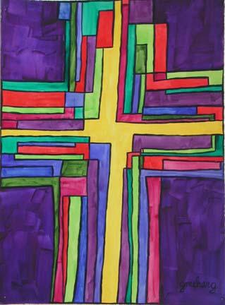 unity-cross-purple-prophetic-art-painting