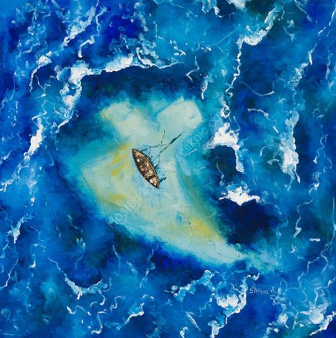 Jesus calms the sea